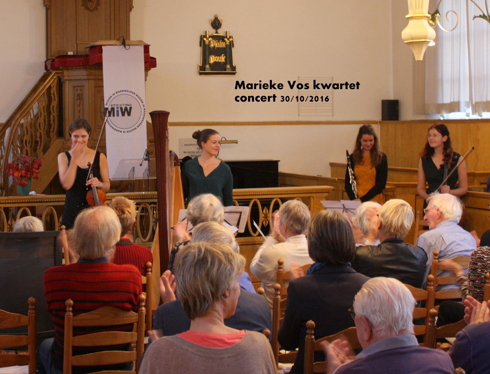 Marieke Vos Kwartet van 30 oktober 2016