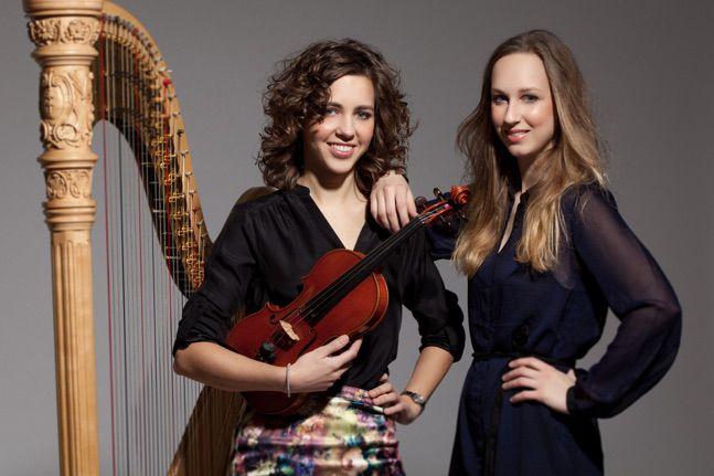Annelieke Marselje (viool) en Doriene Marselje (harp)