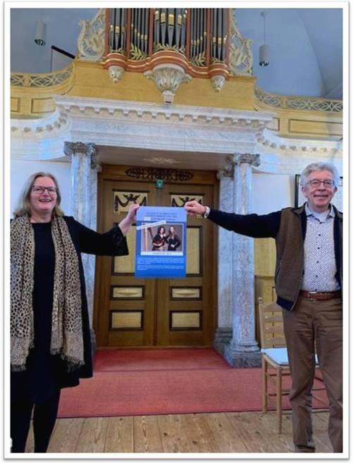 Muziek in Waddinxveen (MIW) jaarprogramma 2021 officieel aangeboden aan wethouder Brigitte Leferink